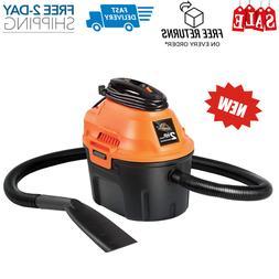 Armor All,2.5 Gallon 2 Peak HP Wet/Dry Utility Shop Vacuum c