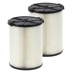 RIDGID 2 Pack Filters Wet Dry Shop Vac 5 Gallon Vacuum Clean