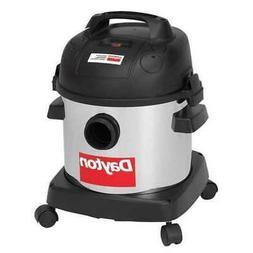 "DAYTON 22XJ61 Commercial Shop Vacuum, 1-1/2"" Hose Dia., HEPA"