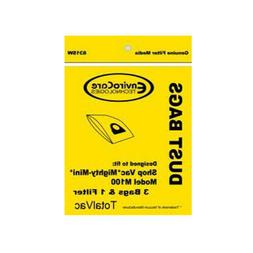 3 Generic Shopvac #90106 Paper Bags for Mighty-Mini 3 Bags &