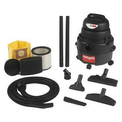 "DAYTON 4YE65 Commercial Shop Vacuum, 1-1/4"" Hose Dia., Stand"
