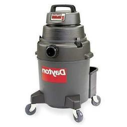 "DAYTON 4YE68 Commercial Shop Vacuum, 1-1/2"" Hose Dia., HEPA"