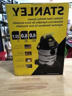 Stanley 6 Gallon Wet Dry Vacuum -4 Peak HP Stainless Steel 3