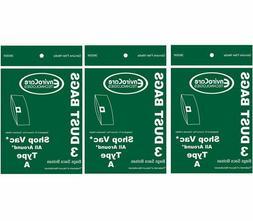 9 vacuum bag fit Shop Vac Type A part # 906 67 906-67 1.5 ga