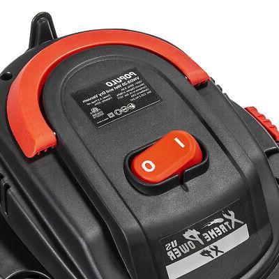 3-in-1 Portable Wet 1000W Shop Vacuum 5-Gallon w Wheel