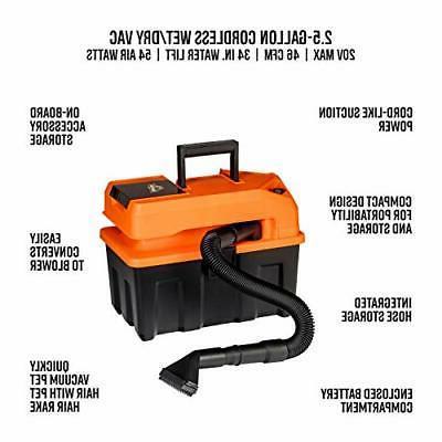 Armor Cordless 20V Utility Wet/Dry Vacuum