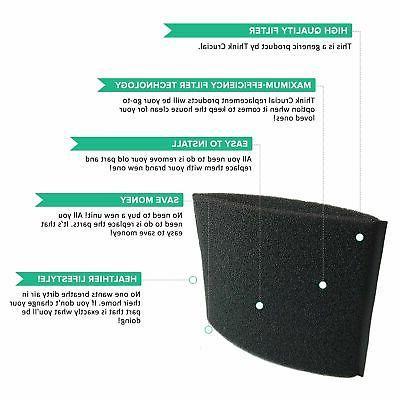 Crucial Foam Replacement Parts Compatible Shop Vac Part ...