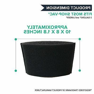 Crucial Foam FIlter Replacement Parts Compatible Shop Vac Part # ...