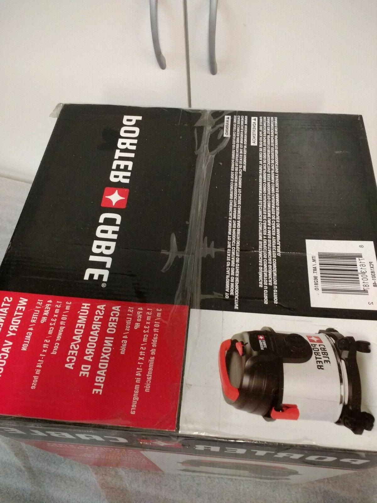 Porter Cable Steel Wet/Dry Shop Vacuum New