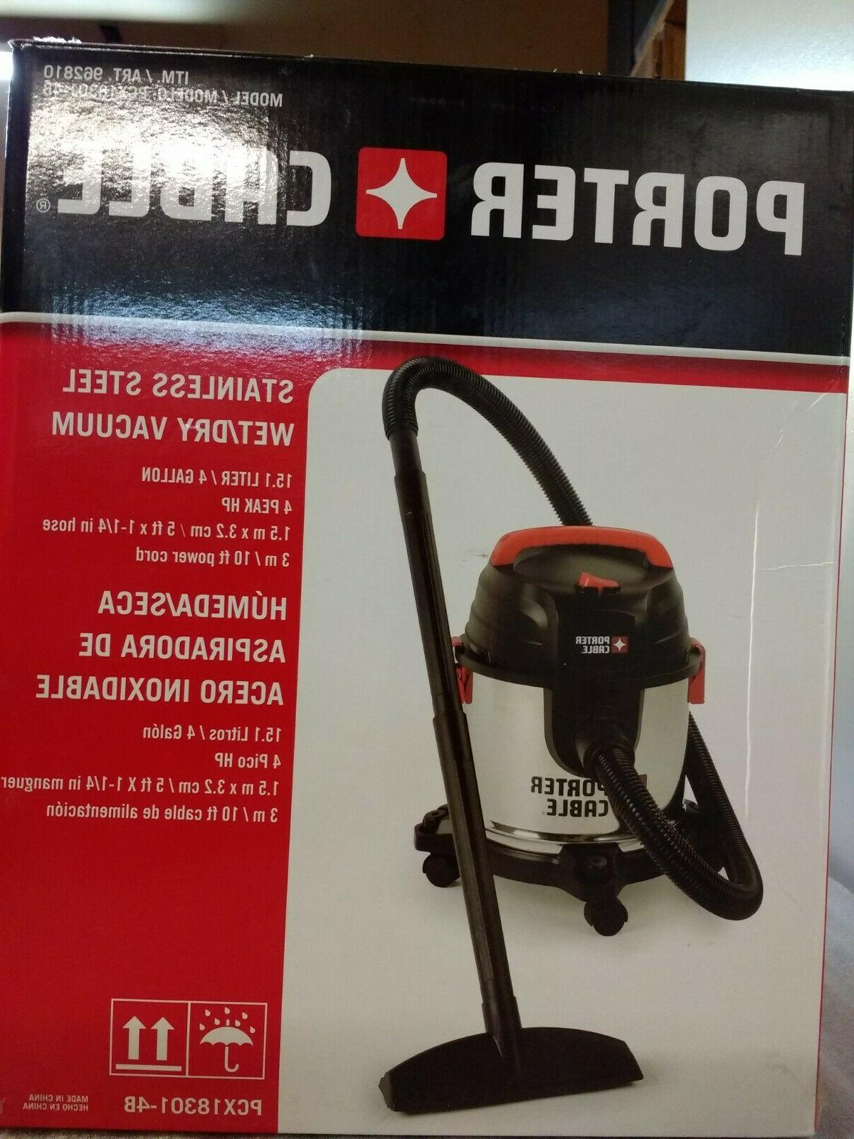 Porter Cable Steel Wet/Dry 4 Gal Vacuum