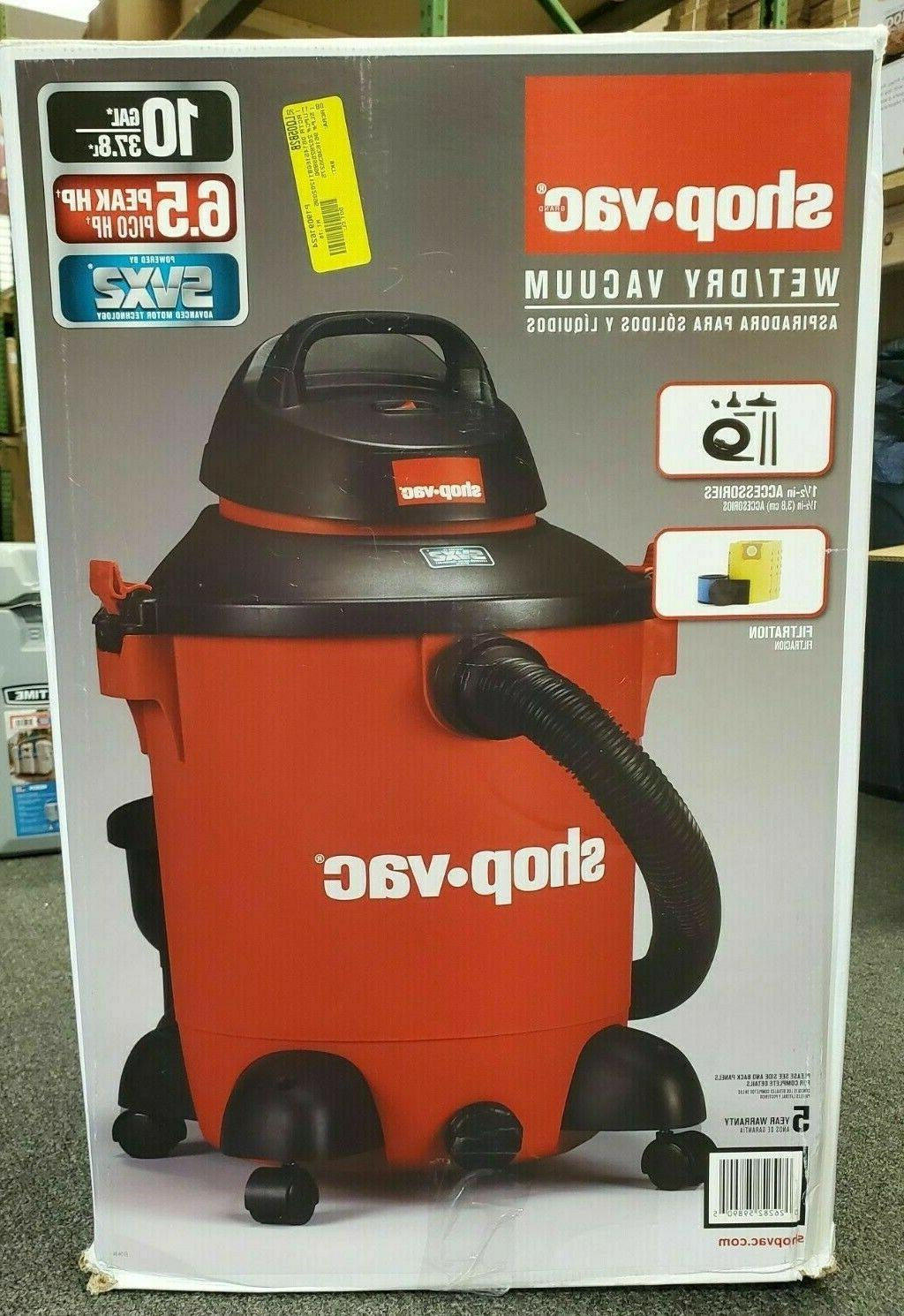 Shop-Vac 10 Gallon HP Dry Vacuum w/ accessories Ships TODAY