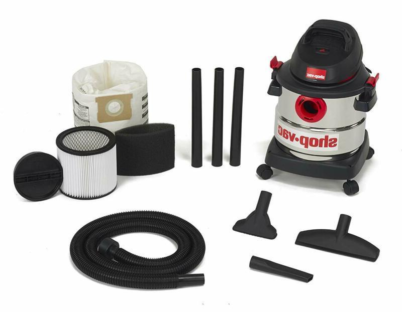 Shop-Vac 5-Gallon 4.5 Hp Stainless Dry Vacuum