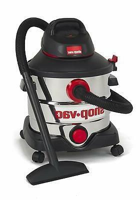 Shop-Vac 5979403 8 6.0 Peak Stainless Wet Dry Vacuum