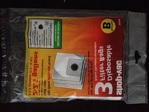shop vac b filter bag