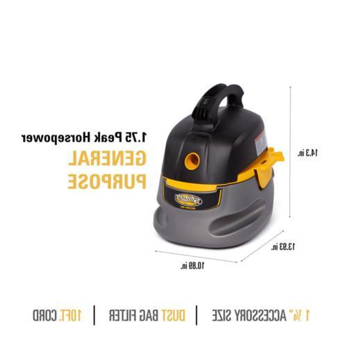 Small Portable Car Detail Vacuum Blower 2.5-Gallon