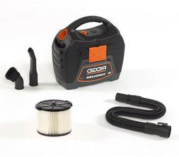 RIDGID Portable 3-Gallon 18V Cordless Filtered Wet Dry Vac V