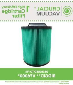 Replacement Ridgid  6 - 20 Gallon Wet & Dry Filter Cartridge
