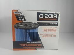 Rigid Shop Vac Filter Reusable 3 Layer Washable Wet Dry Vacu