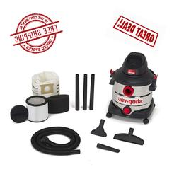 Shop-Vac 8 gallon 6.0 Peak Hp Stainless Wet Dry Vacuum with