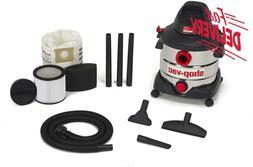 Shop-Vac 5979403 8 Gallon 6.0 Peak Hp Stainless Wet Dry Vacu