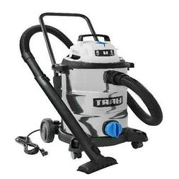SHOP VAC WET DRY VACUUM 8 Gal 6.0 HP Stainless Steel With At