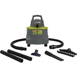 SHOP VAC WET DRY VACUUM Green 6 Gallon Portable With Attachm