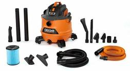 Shop Vacuum Kit Wet or Dry w Hose for Car Cleaning 14 Gal Ho