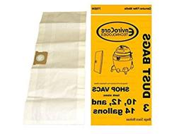 Shop Vacuum Vac Dust Bags 10, 12, 14 Gallon 9066200, 770SW,