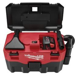 MILWAUKEE 0880-20 Wet/Dry Cordless Vacuum, 2 gal., 18V