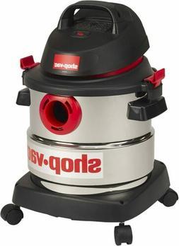 5 Gallon Wet Dry Vacuum 4.5 Peak HP Rugged Stainless Steel T